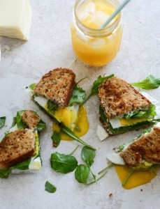 Gruyere, Fig Jam and Arugua Brek Sandwich